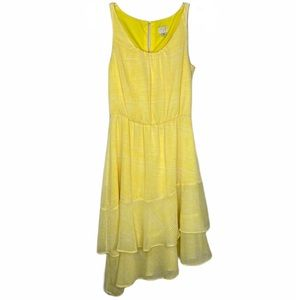 FINAL SALE! A New Day Yellow Tiered Ruffle Dress